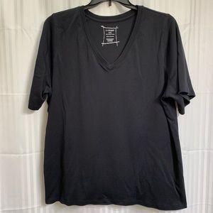 Lane Bryant Black Short Sleeve Tee 26/28